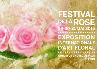 Exhibition at the Rose Festival in Lyon, France – 2015