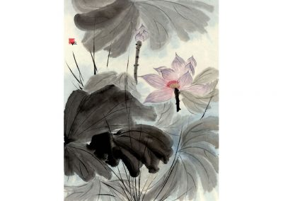 Sumi, Peinture à l'encre,  suiboku-ga, peinture japonaise, Van Nguyen Geneve FleursDeStyle