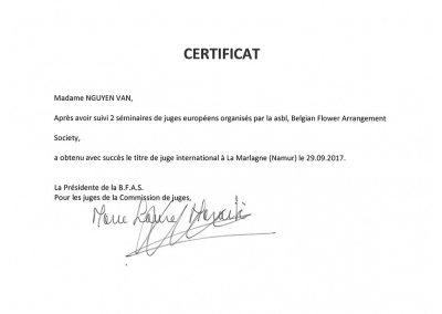 Vân NGUYÊN - FleursDeStyle- Juge international Marlagne