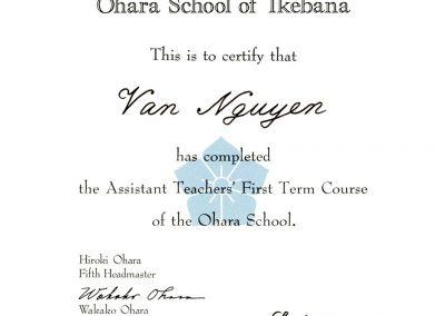 Vân NGUYÊN - FleursDeStyle- Ohara School of Ikebana