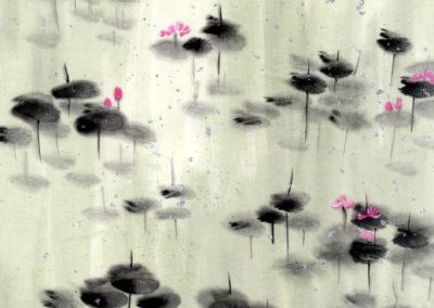 Sumi, Peinture à l'encre, suiboku-ga, peinture japonaise, Van Nguyen Geneve FleursDeStyle 90