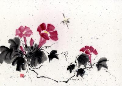Sumi, Peinture à l'encre, suiboku-ga, peinture japonaise, Van Nguyen Geneve FleursDeStyle 91