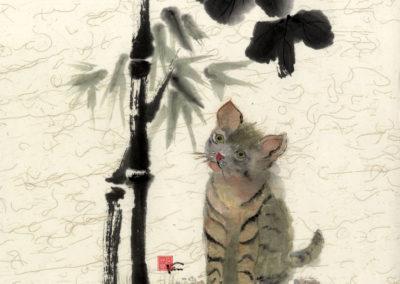 Sumi, Peinture à l'encre, suiboku-ga, peinture japonaise, Van Nguyen Geneve FleursDeStyle 92