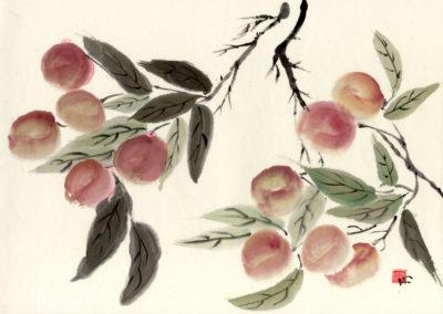Sumi, Peinture à l'encre, suiboku-ga, peinture japonaise, Van Nguyen Geneve FleursDeStyle 93