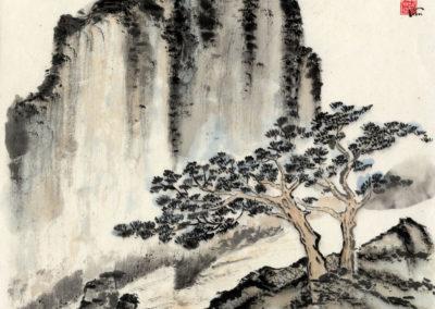 Sumi, Peinture à l'encre, suiboku-ga, peinture japonaise, Van Nguyen Geneve FleursDeStyle 94