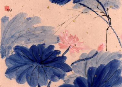 Sumi, Peinture à l'encre, suiboku-ga, peinture japonaise, Van Nguyen Geneve FleursDeStyle 95